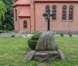 Krzyż przydrożny. Krostkowo, gmina Białośliwie, powiat pilski.
