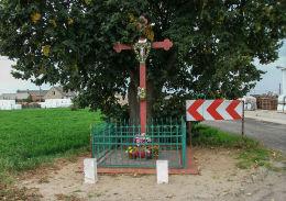Krzyż przydrożny. Drożdżyce, gmina Stęszew, powiat poznanski.
