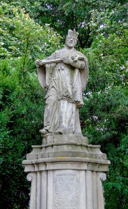 Przydrożna figura św. Jana Nepomucena z XVIII w. Konarzewo, gmina Dopiewo, powiat poznanski.