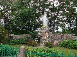 Kapliczka Jezusa Chrystusa przy ulicy Kościuszki. Modrze, gmina Stęszew, powiat poznanski.
