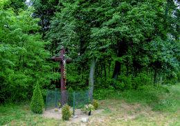 Krzyż przy drodze Zaniemyśl - Śrem. Polesie, gmina Zaniemyśl, powiat średzki.