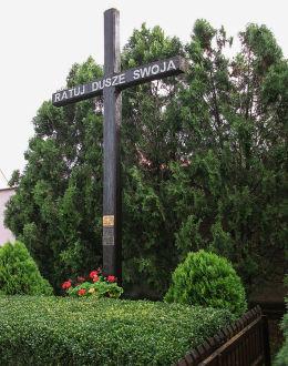 Krzyż przy kościele Najświętszej Marii Panny Wniebowziętej i św. Mikołaja. Krzyż Wielkopolski, powiat śremski.