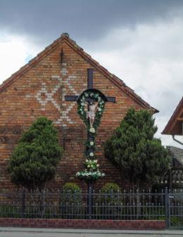 Krzyż przydrożny. Kiełkowo, gmina Siedlec, powiat wolsztyński.