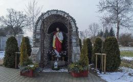 Grota Chrystusa przy cmentarzu parafialnym. Kopanica, gmina Siedlec, powiat wolsztyński.
