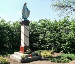 Figura Matki Boskiej na skraju parku pałacowego. Siekowo, gmina. Przemęt, powiat wolsztyński.