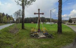 Krzyż przydrożny. Wola Dąbrowiecka, gmina Wolsztyn, powiat wolsztyński.