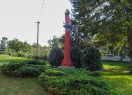 Przydrożna kapliczka kolumnowa. Głubczyn, gmina Krajenka, powiat złotowski.