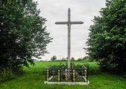 Krzyż przydrożny przy ulicy Polnej. Cerkwica, gmina Karnice, powiat gryficki.