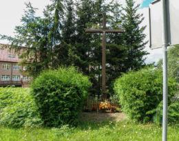 Krzyż przy ulicy Chojeńskiej. Mieszkowice, powiat gryfiński.