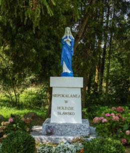 Kapliczka przydrożna. Sławsko, gmina Sławno, powiat sławieński.