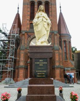 Figura Matki Boskiej przy kościele św.Józefa. Szczecin, Szczecin.