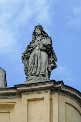 Barokowa figura św. Jadwigi Śląskiej. Lubomierz, powiat lwówecki.