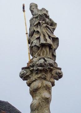 Barokowa figura św. Maternusa z 1717 r. Lubomierz, powiat lwówecki.
