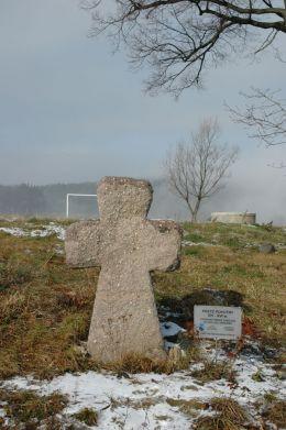 Kamienny krzyż pokutny. Pogorzała, gmina Świdnica, powiat świdnicki.