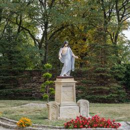 Figura Chrystusa obok kościóła Niepokalanego Poczęcia NMP. Stary Jaworów, gmina Jaworzyna Śląska, powiat świdnicki.