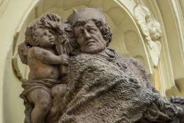 Figura św. Jana Nepomucena z roku 1718. Autor Georg Leonhard Weber. Świdnica, powiat świdnicki.