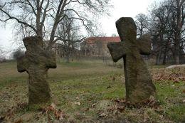 Kamienne krzyże pokutne. Wierzbna, gmina Żarów, powiat świdnicki.