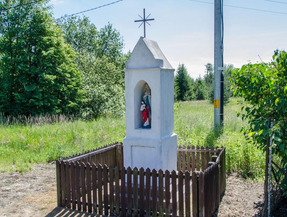 Kapliczka przydrożna, murowana. Radziądz, gmina Żmigród, powiat trzebnicki.