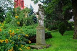 Barokowa figura św. Jana Nepomucena. Jaksonów, gmina Żórawina, powiat wrocławski.