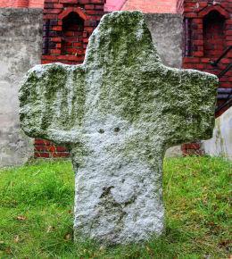 Krzyż pokutny przy cmentarzu kościoła Podwyższenia Krzyża Świętego. Jaksonów, gmina Żórawina, powiat wrocławski.
