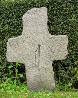 Jeden z trzech krzyży przy kościele Św. Katarzyny. Przecławice, gmina Żórawina, powiat wrocławski.