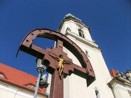 Krzyż przykościele pw. Najświętszego Serca Pana Jezusa. Bydgoszcz, Bydgoszcz.