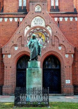 Figura Chrystusaprzykościele ewangelicko-augsburskim. Bydgoszcz, Bydgoszcz.