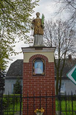 Przydrożna figura św.Wawrzyńca. Wylatowo, gmina Mogilno, powiat mogileński.