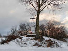 Krzyż przydrożny. Kosmów, gmina Hrubieszów, powiat hrubieszowski.