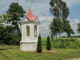 Kapliczka przydrożna murowana. Rudno, gmina Michów, powiat lubartowski.