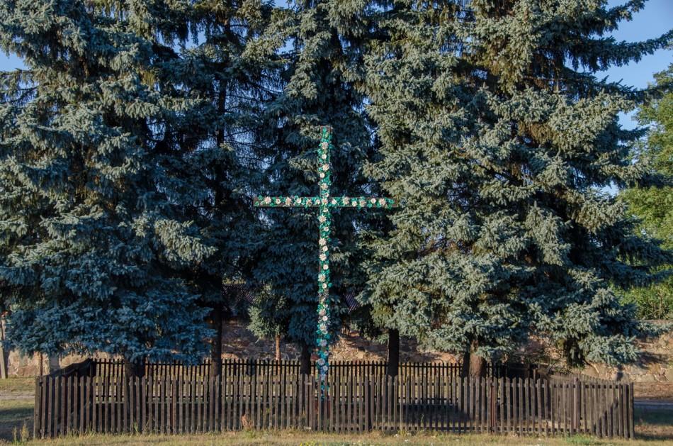 Krzyż przydrożny. Czarnów,  gmina Górzyca, powiat słubicki.