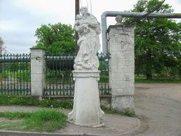 Barokowa figura Matki Boskiej z XVIII w. Stare Strącze, gmina Sława, powiat wschowski.
