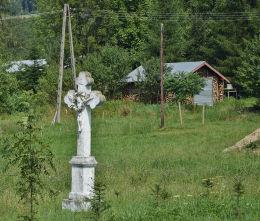 Krzyż przydrożny. Owczary, gmina Sękowa, powiat gorlicki.