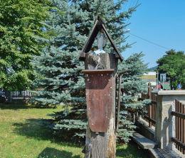 Kapliczka przydrożna, drewniana. Wysowa-Zdrój, gmina Uście Gorlickie, powiat gorlicki.