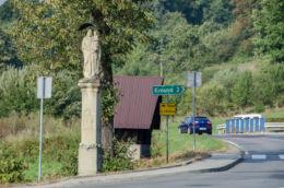 Przydrożna kapliczka. Krosna, gmina Laskowa, powiat limanowski.