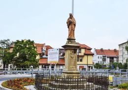 Figura św. Jana Nepomucena z 1894 r. Myślenice, powiat myślenicki.