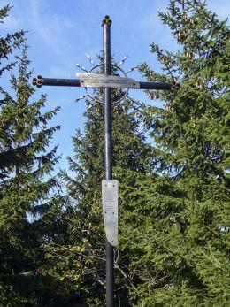 Krzyż przydrożny metalowy. Sidzina, gmina Bystra-Sidzina, powiat suski.