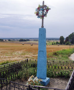 Kapliczka przydrożna z 1893r. Koziczyn, gmina Regimin, powiat ciechanowski.