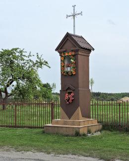 Kapliczka przydrożna murowana. Cecylówka, gmina Głowaczów, powiat kozienicki.