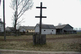 Przydrożny krzyż choleryczny. Nowe Kaczkowo gmina Brok, powiat ostrowski.