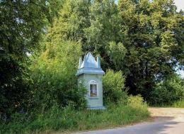Kapliczka wotywna powstańca styczniowego. Stare Kaczkowo, gmina Brok, powiat ostrowski.