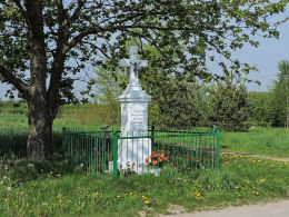 Kapliczka przydrożna ufundowana przez Jana Siwca w 1909 r. Bieliny, gmina Gielniów, powiat przysuski.
