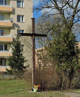 Krzyż przydrożny drewniany. Radom, Radom.
