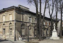 Przydrożny krzyż kamienny. Radom, Miasto Kazimierzowskie, Radom.
