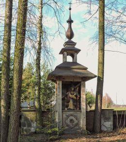 Drewniana stacja drogi krzyżowej. Bardzice, Gmina Kowala, powiat radomski.