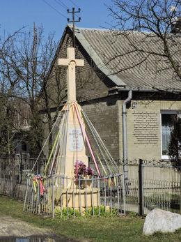 Krzyż przydrożny z 1936 r. Laski, gmina Pionki, powiat radomski.