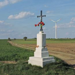 Krzyż przydrożny. Polany, gmina Wierzbica, powiat radomski.