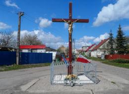 Drewniany krzyż przydrożny. Kotuń, gmina Szydłowo, powiat pilski.