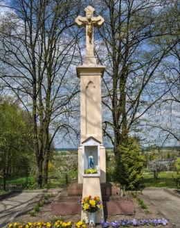 Krzyż upamiętniający ofiary bitwy pod Byczyną z 1588 r. Byczyna, powiat kluczborski.