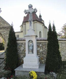 Przydrożny krzyż kamienny. Kujawy, gmina Strzeleczki, powiat krapkowicki.